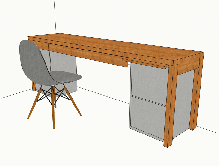 Bureau bambou – Mike van Sleen on